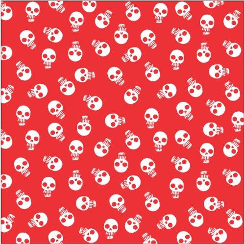 Lenço/bandana Caveirinhas - vermelho