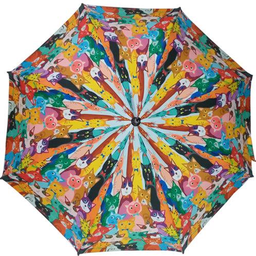 Guarda-chuva Gatos Coloridos