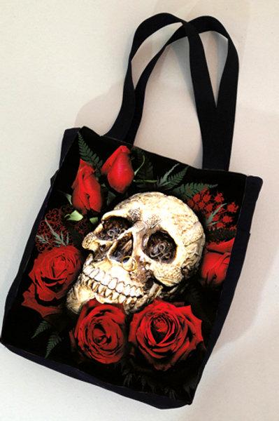 Bag Caveira Rosa vermelha
