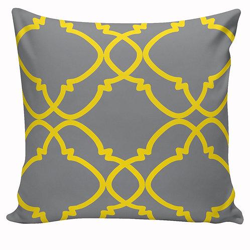 Capa de almofada Amarelo e cinza 8