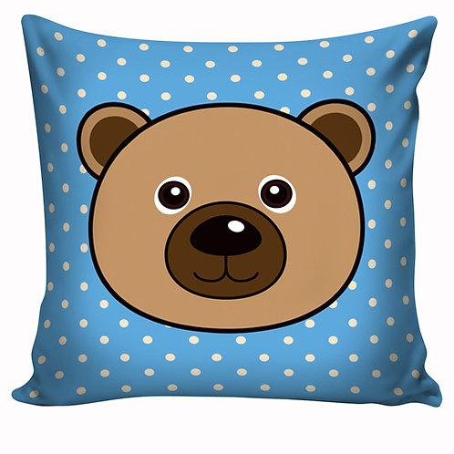 Capa de almofada Ursinho azul