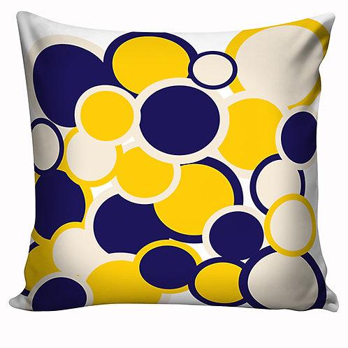 Capa de almofada Azul e Amarelo 3