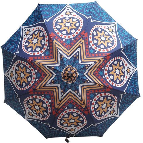 Guarda-chuva mandala azul