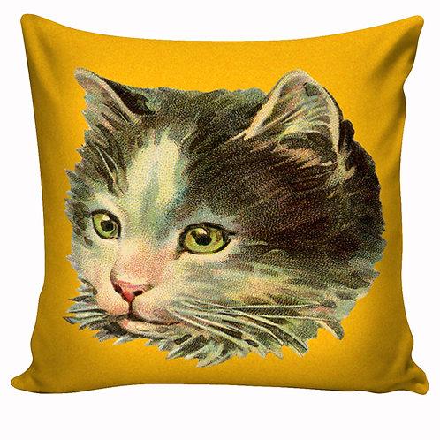 Capa de almofada Gato amarelo