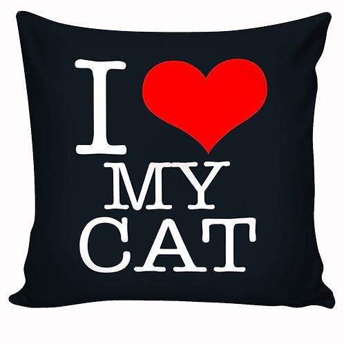Capa de almofada I Love My Cat