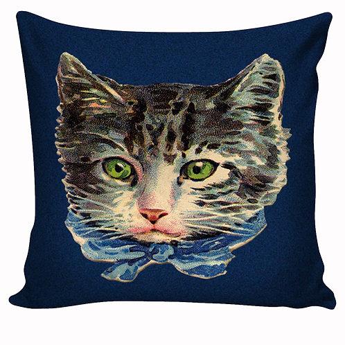 Capa de almofada Gato azul
