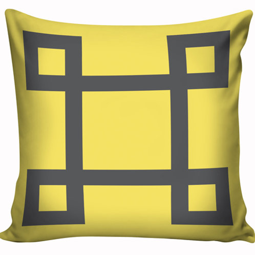 Capa de almofada Amarelo e cinza 10