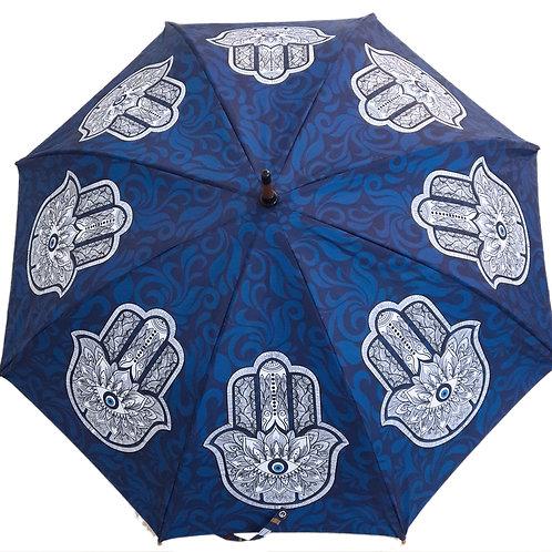Guarda-chuva Hamsa Blue