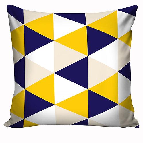 Capa de almofada Azul e Amarelo 2