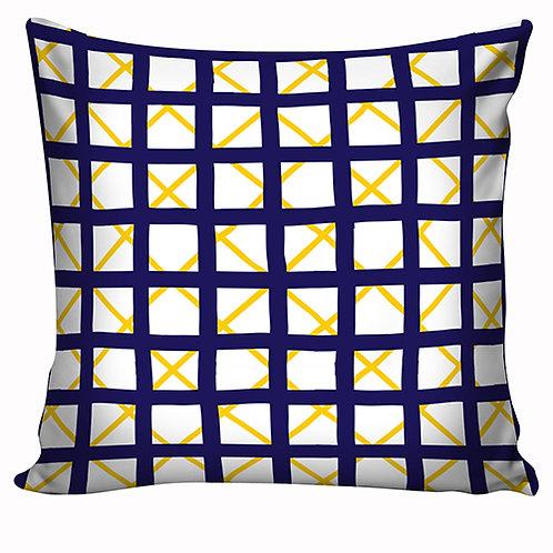 Capa de almofada Azul e Amarelo 4