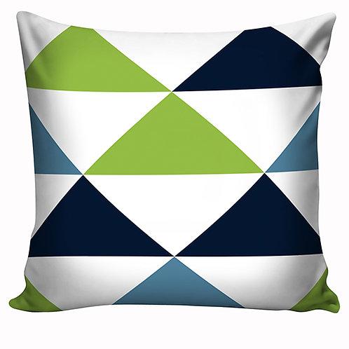 Capa de almofada Azul & Verde 06
