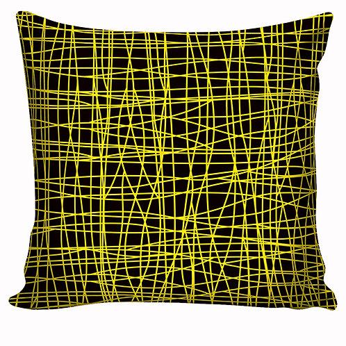 Capa de almofada Preto&Amarelo 16