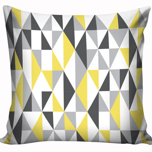 Capa de almofada Amarelo e cinza 9