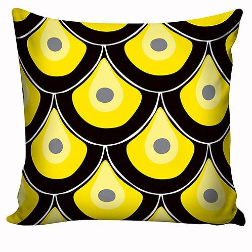 Capa de almofada Preto&Amarelo 9