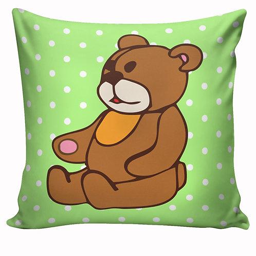 Capa de almofada Ursinho verde
