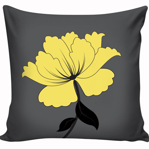 Capa de almofada Amarelo e cinza 1