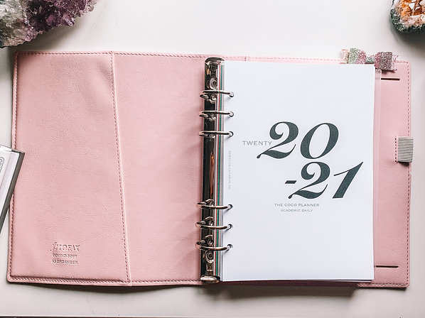 A5 Day-to-Page 2020-21 Dated Planner Insert