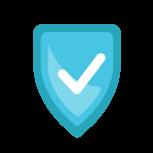 Icono seguro - Azul