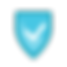 Icône sécurisé - Bleu