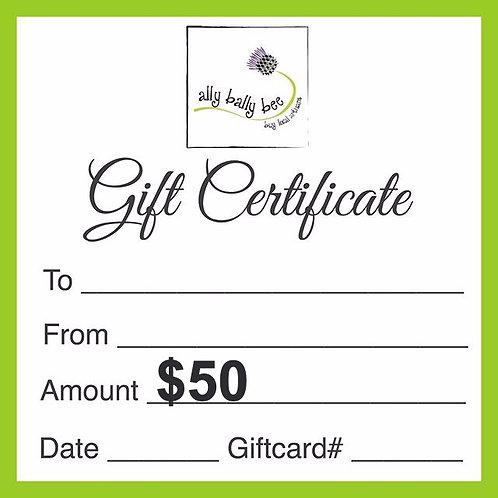 Ally Bally Bee Gift Card