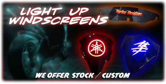 Tricked Out Cycles | Light Up Windscreens
