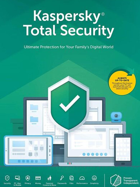 Kaspersky Total Security 2020 1 Year, 10 Devices Product Key Card