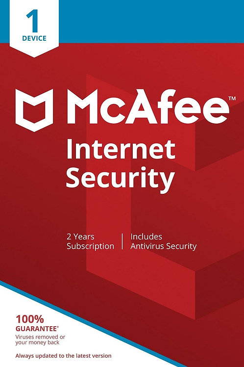 McAfee Internet Security - 1 Device 2 Years PC/Mac/Android