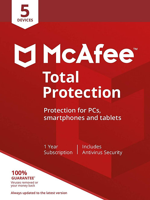 McAfee Total Protection - 5 Devices PC/Mac/Android