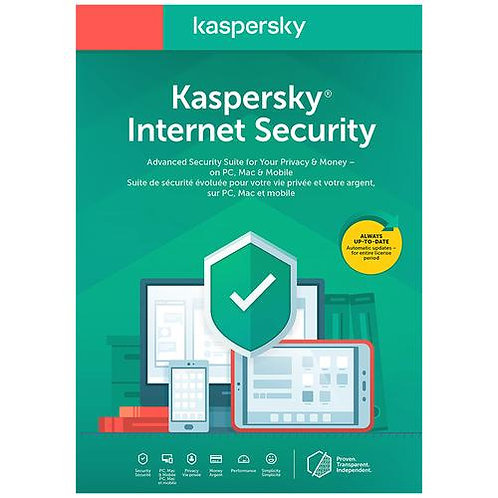 Kaspersky Internet Security 2020 1 Year, 10 Devices Product Key Card