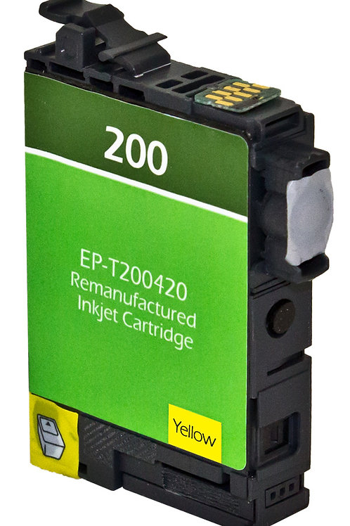 EPSON 200XL (T200420XL) INKJET CTG, YELLOW, 7.5ML HIGH CAPACITY REMAN