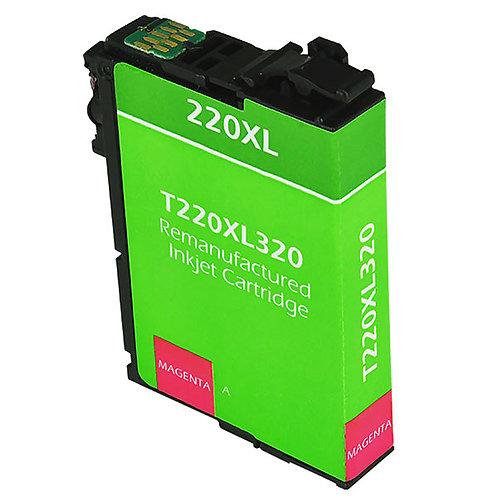 EPSON 220XL (T220XL320) INKJET CTG, MAGENTA, 450 HIGH YIELD REMAN