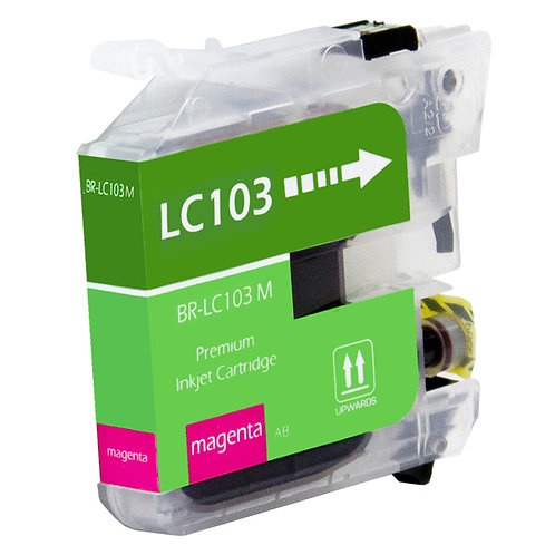 BROTHER LC103C INKJET CTG, MAGENTA, 600 HIGH YIELD