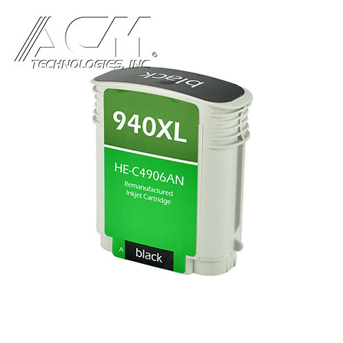 HP 940XL (C4906AN) INKJET CTG, BLACK, 2.2K HIGH YIELD, WITH SCC CHIP