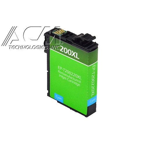 EPSON 200XL (T200220XL) INKJET CTG, CYAN, 7.5ML HIGH CAPACITY REMAN