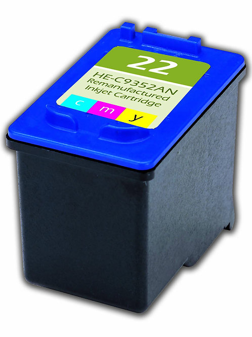 HP 22 (C9352AN) INKJET CTG, COLOR, 165 YIELD, TRI-COLOR