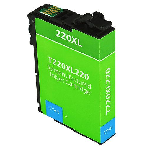EPSON 220XL (T220XL220) INKJET CTG, CYAN, 450 HIGH YIELD REMAN