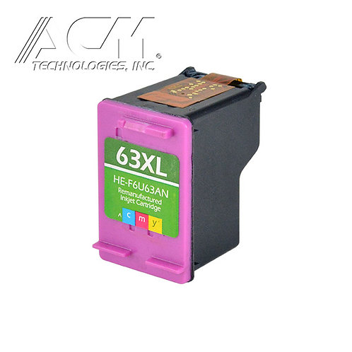 HEWLETT PACKARD 63XL (F6U63AN) INKJET CTG, COLOR, 330 HIGH YIELD, TRI-COLOR