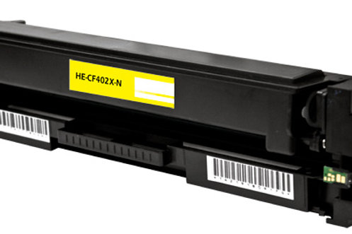 HP 201X (CF 402X) TONER CTG, YELLOW, 2.3K HIGH YIELD