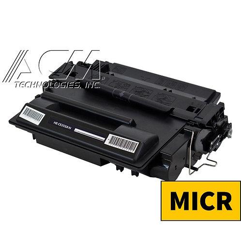 HP 55X (CE 255X) MICR TONER CTG, BLACK, 12.5K HIGH YIELD