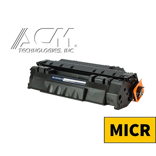 HP 05A (CE 505A) MICR TONER CTG, BLACK, 2.3K YIELD