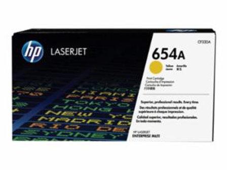 HP 654A (CF 332A)- Yellow - original - LaserJet - toner cartridge