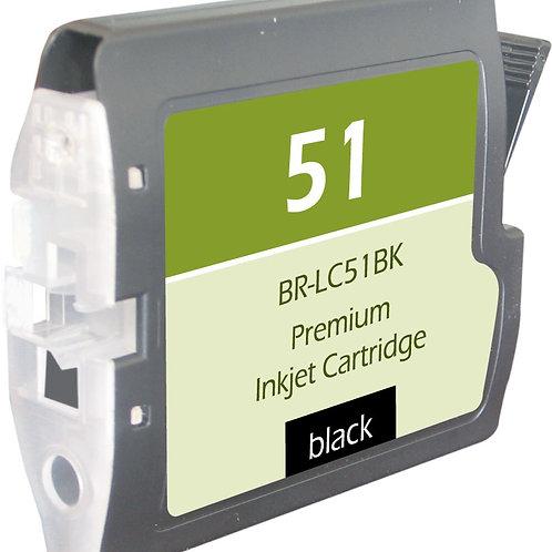 BROTHER LC51BK INKJET CTG, BLACK, 500 YIELD