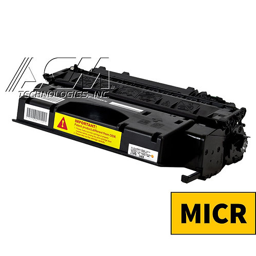 HP 05X (CE 505X) MICR TONER CTG, BLACK, 6.5K HIGH YIELD