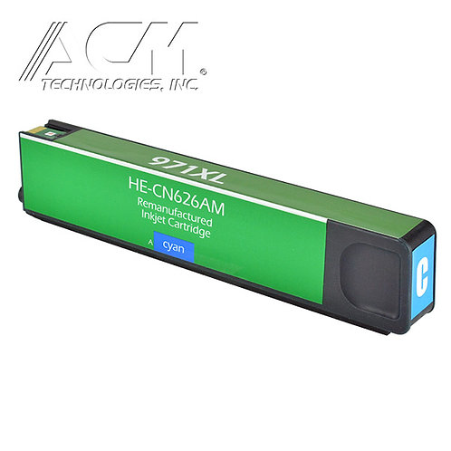 HP 971XL (CN626AM) INKJET CTG, CYAN, 6.6K HIGH YIELD REM