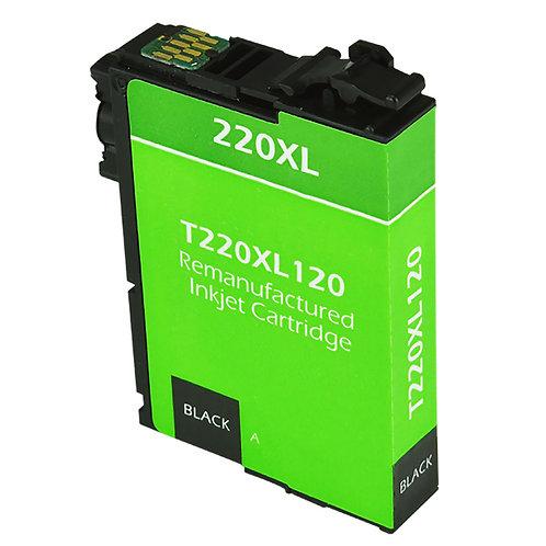 EPSON 220XL (T220XL120) INKJET CTG, BLACK, 500 HIGH YIELD REMAN