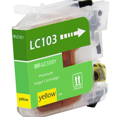 BROTHER LC103C INKJET CTG, YELLOW, 600 HIGH YIELD