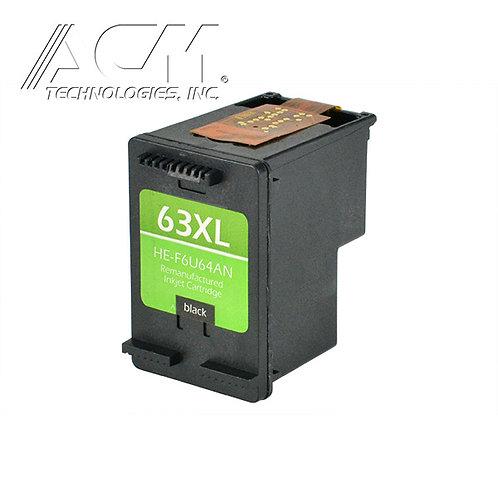 HP 63XL (F6U64AN) INKJET CTG, BLACK, 480 HIGH YIELD