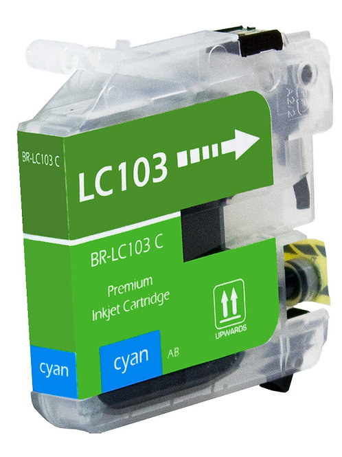 BROTHER LC103C INKJET CTG, CYAN, 600 HIGH YIELD