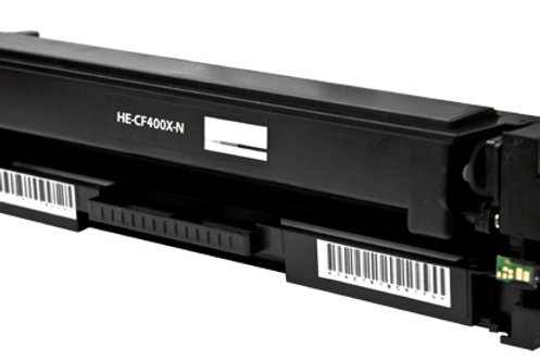 HP 201X (CF 400X) TONER CTG, BLACK, 2.8K HIGH YIELD