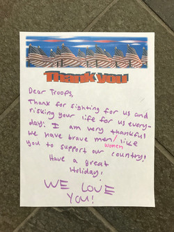 Thank You Letter to our Military